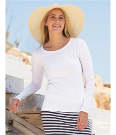 Fruit of the Loom Lady-Fit Valueweight Long Sleeve T-Shirt