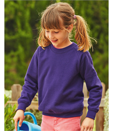 Fruit of the Loom Childrens Raglan Sleeve Sweatshirt