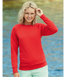 Fruit of the Loom Lady-Fit Lightweight Raglan Sweat