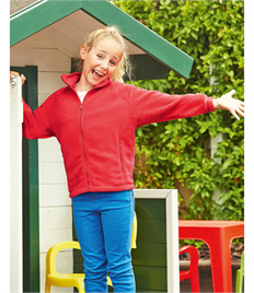Childrens Full Zip Outdoor Fleece