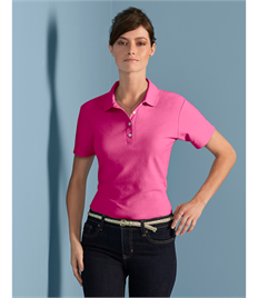 Gildan S/tstyle Ladies Double Pique Polo