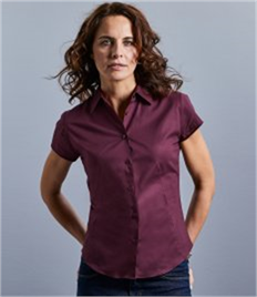 Ladies' Short Sleeve Easy Care Fitted Shirt
