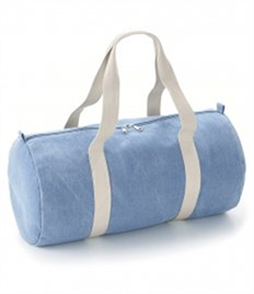 BagBase Denim Barrel Bag