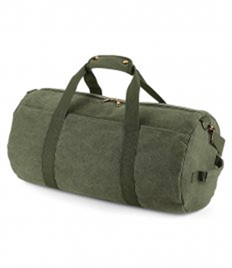 BagBase Vintage Canvas Barrel Bag