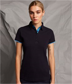 Front Row Ladies Contrast Cotton Piqué Polo Shirt