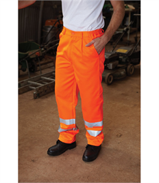 Yoko Hi-Vis Polycotton Work Trouser (Regular)