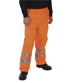 Hi-Vis Waterproof Contractors Trousers