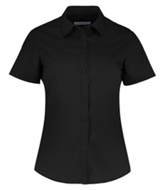 Kustom Kit Ladies Short Sleeve Tailored Poplin Shirt