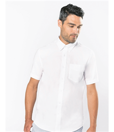 KARIBAN MENS SHORT SLEEVE OXFORD SHIRT