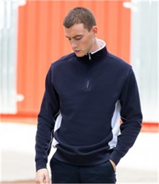 Finden & Hales Zip Neck Sweatshirt