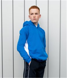 Finden & Hales Kids Contrast Hooded Sweatshirt