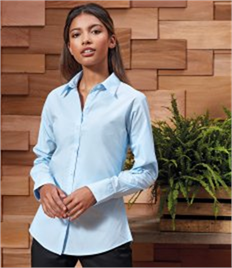 Premier Ladies Supreme Long Sleeve Poplin Shirt