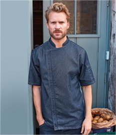 Premier Short Sleeve Zipped Chef's Jacket