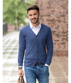 Russell Collection Mens V-Neck Cardigan