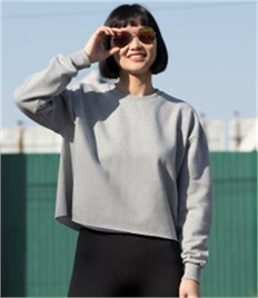 SF Ladies Cropped Slounge Sweatshirt