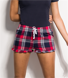SF Ladies Tartan Frill Shorts