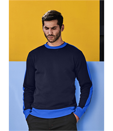 Regatta Mens Contrast Crew Sweat