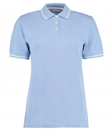 Kustom Kit Ladies St Mellion Tipped Cotton Piqué Polo Shirt