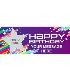 6ft Happy Birthday Banner (Stars)