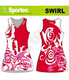 Sublimation Netball Dress (Swirl)