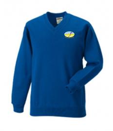 Awel-y-Môr Primary School V-Neck Sweatshirt (Adult Sizes)