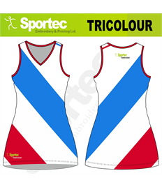 Sublimation Netball Dress (Tricolour)