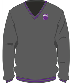 Ysgol Bae Baglan V-Neck Pullover (Age 7-8 to Medium)