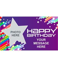 4ft Happy Birthday Banner (Stars)