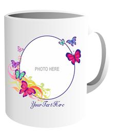 Ceramic Sublimation Mug (Butterfly Frame)