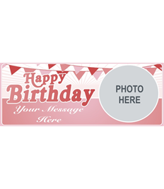 6ft Birthday Banner (Retro Pink)