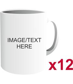 Set of 12 - Personalised Gift Mug