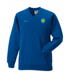 Ysgol Gymraeg Ystalyfera V-Neck Jumper - Name included (Sizes Age 7/8 to 11/12)