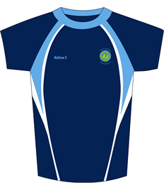 Ysgol Gymraeg Ystalyfera – NAMED PE TOP (Children Age 9-10 to 14-15)