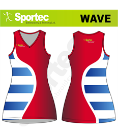 Sublimation Netball Dress (Wave)